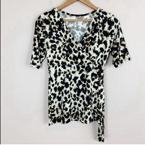 🌿Merona Leopard Print Blouse